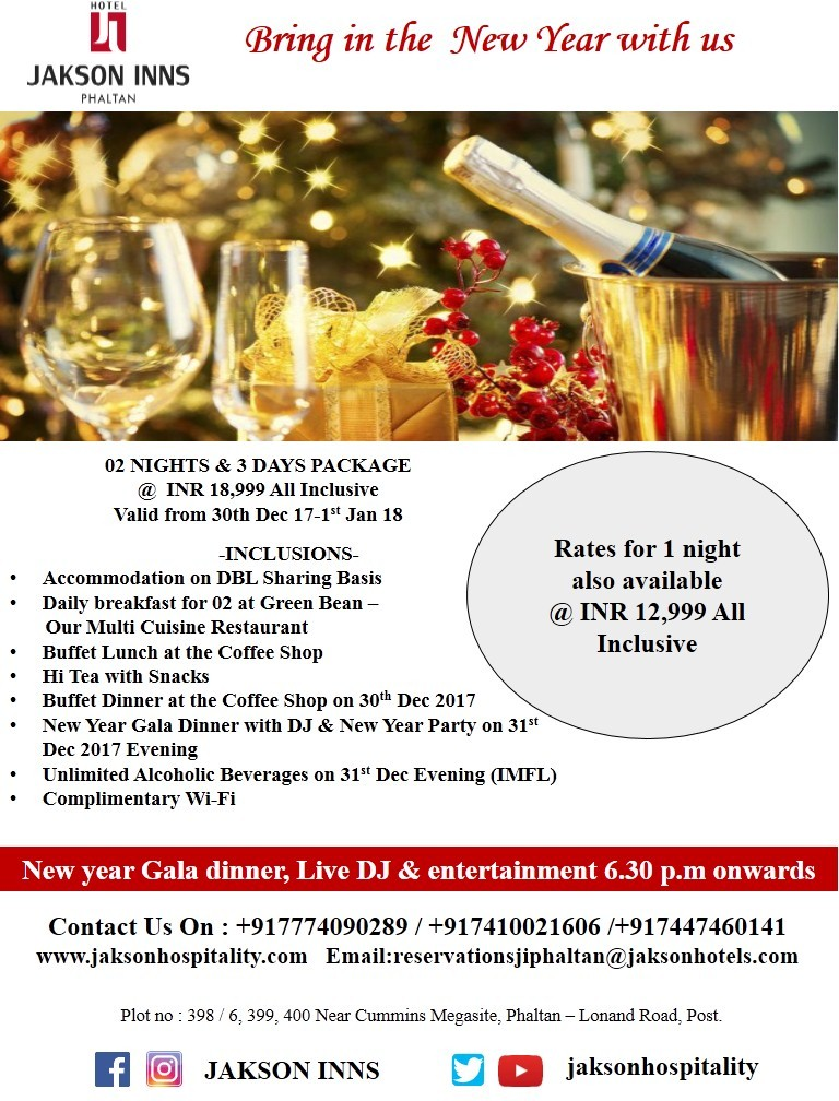 New year celebration at Hotel Jakson Inns