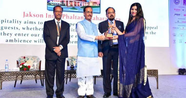 Jakson Inns Phaltan was awarded the Green Hotel of the year award 2018 at the 53rd Convention of Federation of Hotels and Restaurant Association of India (FHRAI)
