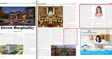 Hotel Jakson Inns Phaltan featuring on Hotel Business Review Magazine - Nov- Dec 2018 Issue ( Page 36,38 & 39 )